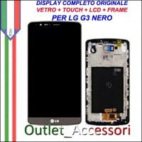 Display LG G3 Optimus D855 Nero Vetro Touch Lcd Frame Schermo Originale