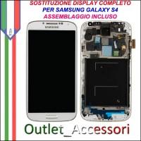 Sostituzione Riparazione Cambio Assemblaggio Display Lcd Vetro Cornice Schermo Rotto Samsung Galaxy S4 I9500 I9505 GT