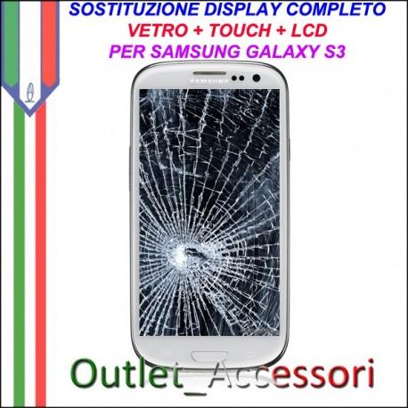 Sostituzione Display Rotto Samsung Galaxy S3 I9300 I9305 Lcd Vetro Schermo Riparazione Cambio Assemblaggio GT-I9300