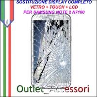 Sostituzione Display Samsung NOTE 2 N7100 N7105 Lcd Vetro Schermo Rotto Riparazione Cambio Assemblaggio GT-N7100