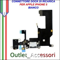 CONNETTORE RICARICA IPHONE 5 BIANCO ORIGINALE