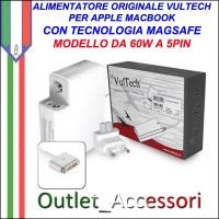 Alimentatore Vultech AP165366Z-218 Per Apple Con 5 PinMAGSAFE Magnetico 60W 16.5V 3.65A