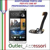 Sostituzione Riparazione Saldatura Porta Connettore Jack Usb Carica Ricarica per HTC ONE M7