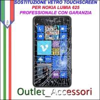 Riparazione Vetro Touch Nokia Lumia 625 N625 Sostituzione Cambio Screen Schermo Rotto