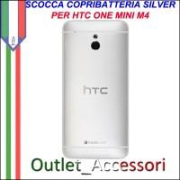 Scocca Copribatteria Telaio Cover Cornice Housing per HTC ONE MINI M4 Silver