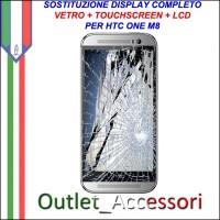 Sostituzione Cambio Display Schermo Rotto HTC ONE M8 Lcd Touch Vetro