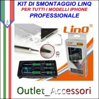 Kit Attrezzi Smontaggio Riparazione Professionale LINQ per Iphone 3G 4 4S 5 5C 5S