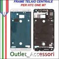 Frame Telaio Housing per HTC ONE M7 Bianco Bianca