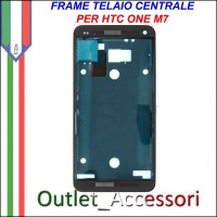 Frame Telaio Housing per HTC ONE M7 Nero