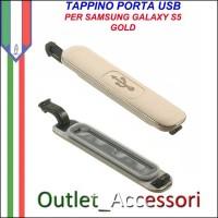 Tappo Tappino Porta Usb Carica Ricarica Samsung Galaxy S5 G900 G900F Gold