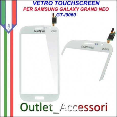 Vetro Touch Touchscreen Schermo Samsung I9060 Galaxy Grand Neo Bianco