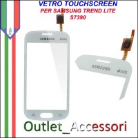 Vetro Touch Touchscreen Schermo Samsung S7390 Trend Lite Bianco