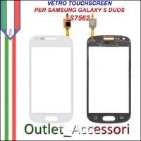 Vetro Touch Touchscreen Schermo Samsung S7562 GALAXY S DUOS BIANCO