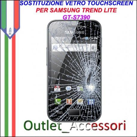 Riparazione Vetro Touch Samsung TREND LITE S7390 S7392 GT Cambio Touchscreen Schermo Rotto