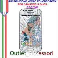 Riparazione Vetro Touch Samsung S DUOS S7560 S7562 GT Cambio Touchscreen Schermo Rotto