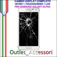 Cambio Sostituzione Display Rotto Samsung Galaxy Alpha G850 G850F Schermo Vetro Touch Lcd Assemblaggio