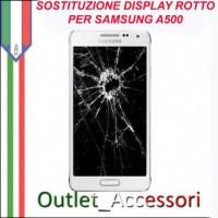Cambio Sostituzione Display Rotto Samsung A5 A500 Schermo Vetro Touch Lcd Assemblaggio