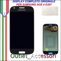Display Schermo Originale Assemblato Cornice Flat per Samsung ACE 4