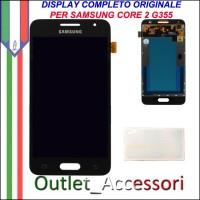 Display LCD Touch Originale Samsung Galaxy Core 2 SM-G355 G355HN GH97-16070B NERO Schermo Vetro
