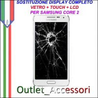 Cambio Sostituzione Display Rotto Samsung Galaxy Core 2 G355 G355HN Schermo Vetro Touch Lcd Assemblaggio