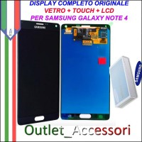 Display LCD Schermo Originale Samsung Galaxy Note 4 N910F Nero Black Super Amoled HD GH97-16565B