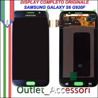 Display LCD Touch Samsung Galay S6 Originale SM-G920 G920F NERO Schermo Completo GH97-17260A