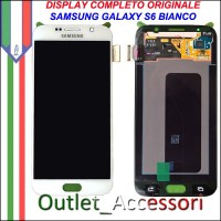 Display LCD Touch Samsung Galay S6 Originale SM-G920 G920F Bianco Schermo Completo GH97-17260B