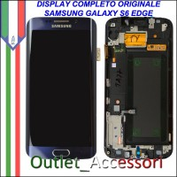 Display LCD Touch Samsung Galay S6 Edge Originale SM-G925 G925F NERO Schermo Completo GH97-17162A
