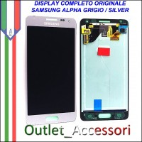 Display Lcd Schermo Originale Samsung Galaxy Alpha G850 G850F Grigio Silver GH97-16386E