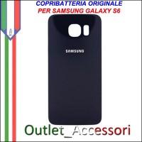 Copribatteria Back Cover Originale Samsung Galaxy S6 NERO G920F Vetro