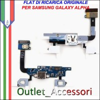 Flat Flex Connettore Dock Usb Samsung Alpha G850F Originale Tasti