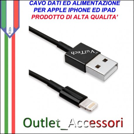 Cavo Dati e Alimentazione USB Lightning per Iphone ed Ipad Originale Vultech