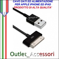 Cavo Dati e Alimentazione USB per Iphone 3G 4 4S Ipad Originale Vultech