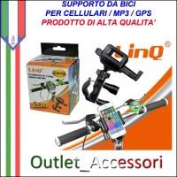 Supporto Fascia da Volante Auto con Clip per Cellulari Mp3 Mp4 GPS Universale Linq