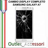 Cambio Sostituzione Display Rotto Samsung A7 Schermo Vetro Touch Lcd Assemblaggio
