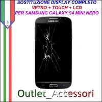 Sostituzione Display Samsung Galaxy S4 Mini NERO i9195 Lcd Vetro Schermo Rotto Riparazione Cambio Assemblaggio GT-I9195