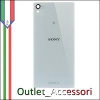 Copribatteria Originale Vetro Sony Xperia Z3 Bianco Bianca
