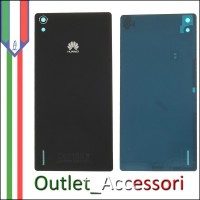 Copribatteria Back Cover Originale Vetro Huawei Ascend P7 Bianco Bianca