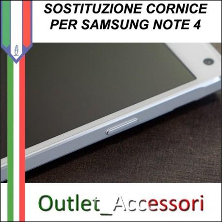 Cambio Cornice Samsung Galaxy Note 4 N910F Riparazione Sostituzione Telaio Frame Rotto