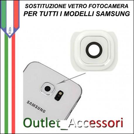 Sostituzione Cambio Vetro Fotocamera Rotta Samsung Galaxy S6 Camera Posteriore