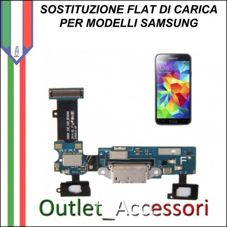Cambio Sostituzione Connettore Flat Ricarica Carica Samsung Galaxy S5 G900F