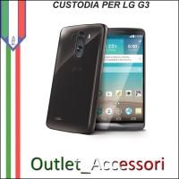 Cover Custodia per LG G3 D855 in Gomma TPU Chiaro Trasparente