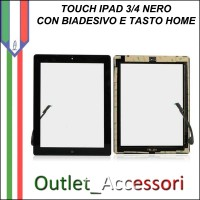 Touchscreen Touch Vetro Schermo Ricambio Originale per Apple Nuovo Ipad 3 Nero Black 4g wifi