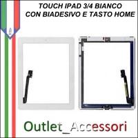 Touchscreen Touch Vetro Schermo Ricambio Originale per Apple Nuovo Ipad 3 Nero Completo