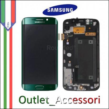 Display LCD Touch Samsung Galay S6 Edge Originale SM-G925 G925F NERO Schermo Completo GH97-17162A