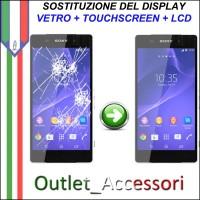 Cambio Sostituzione Display Rotto Sony peria Z3 D6603 Cornice Schermo Vetro Touch Lcd Assemblaggio
