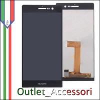 Display Schermo Lcd Touch Screen Vetro Huawei Ascend P7 Nero
