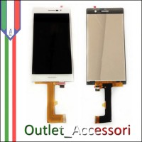 Display Schermo Lcd Touch Screen Vetro Huawei Ascend P7 BIANCO