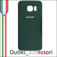 Copribatteria Back Cover Originale Samsung Galaxy S6 Edge VERDE G925F Vetro