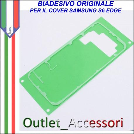 Biadesivo Adesivo Assemblaggio Copribatteria Samsung Galaxy S6 Edge G925F Originale Back Cover